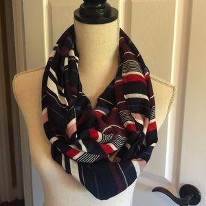 LOFT striped infinity scarf